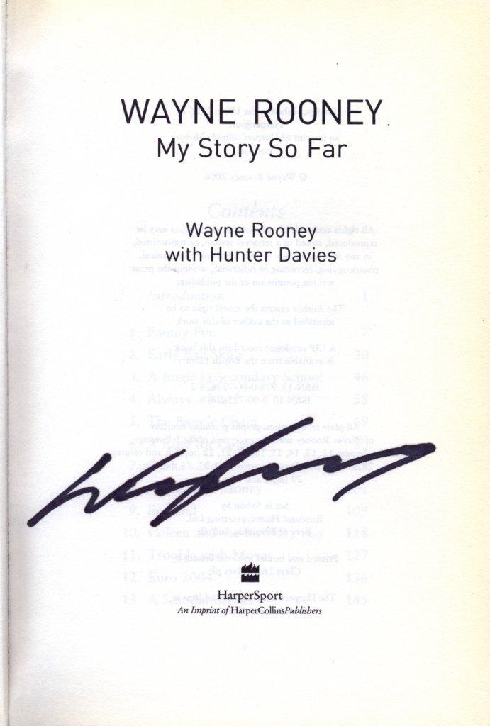 ROONEY WAYNE: (1985- ) English Footballer. Book signed,