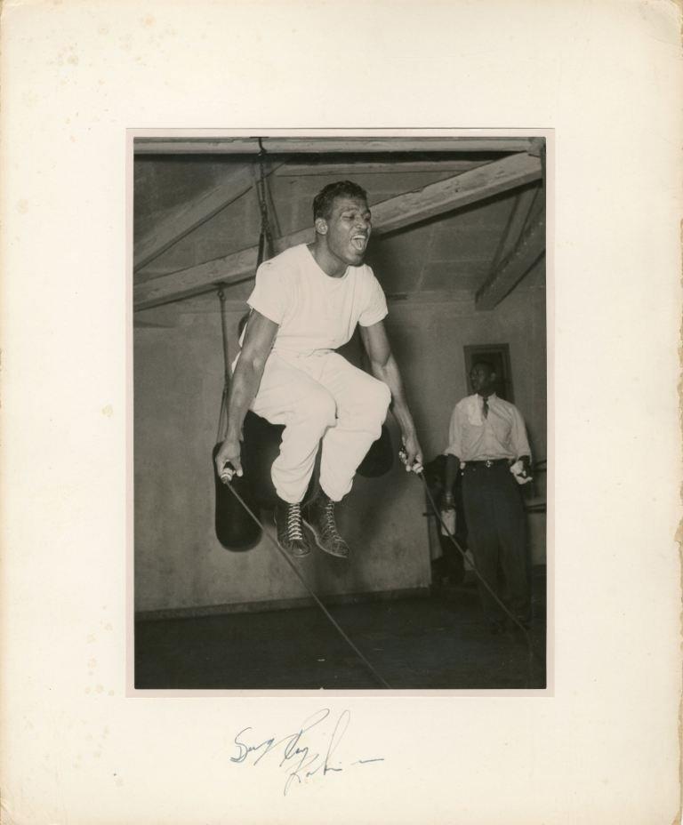 ROBINSON SUGAR RAY: (1921-1989) American Boxer, World