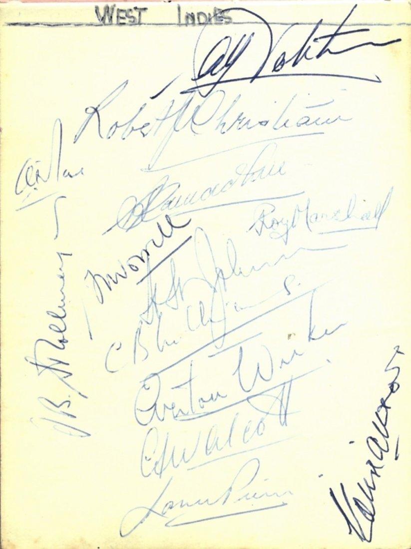 CRICKET: An autograph album containing over 200