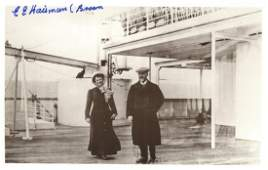 TITANIC Selection of signed postcard photographs and a