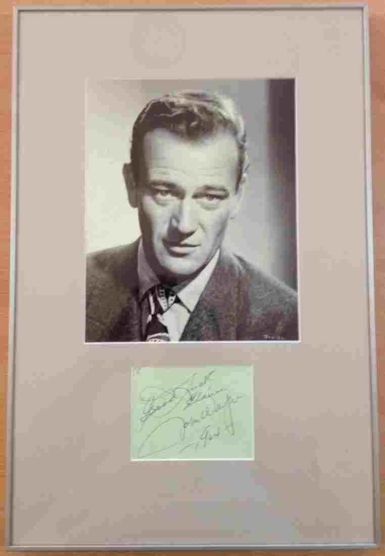 WAYNE JOHN: (1907-1979) American Actor, Academy Award