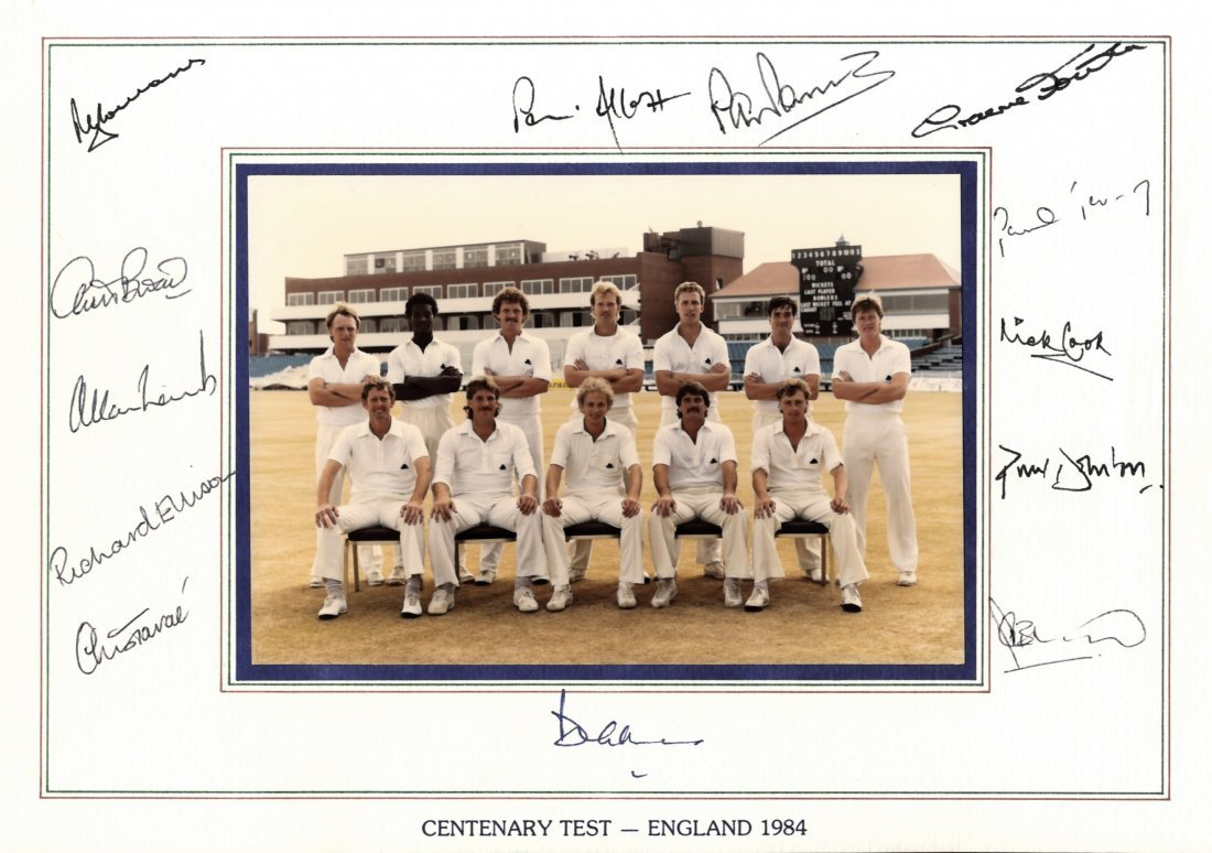 CRICKET: Selection of multiple signed team sheets (most