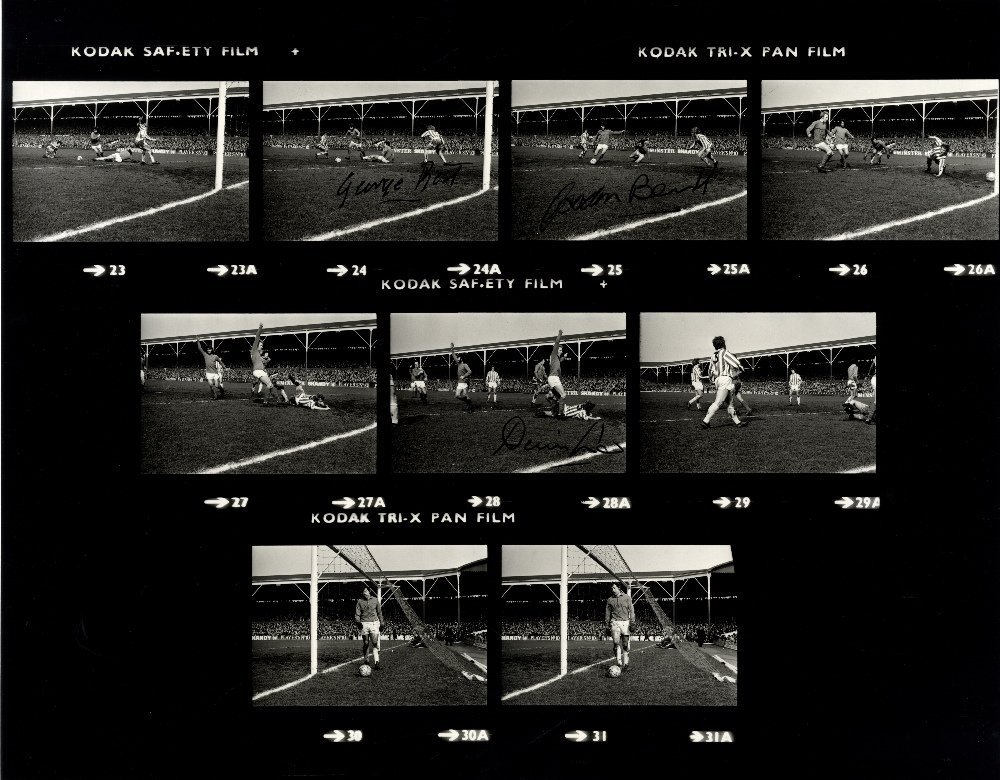 FOOTBALL: A good, unusual large 20 x 16 photograph, the