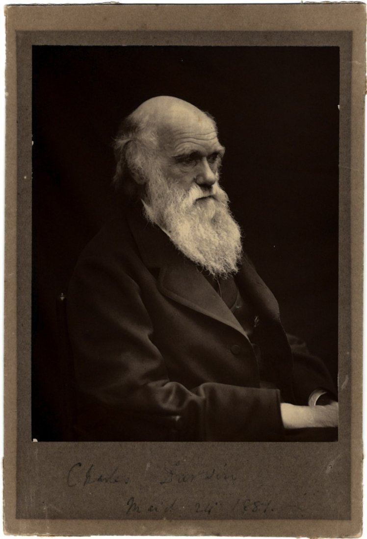 DARWIN CHARLES: (1809-1882) English Naturalist. A good,