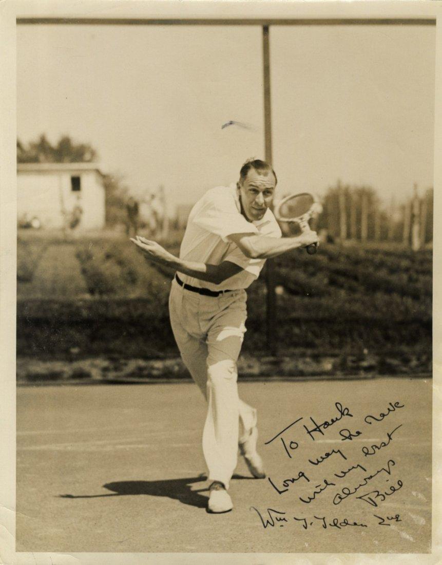 TILDEN WILLIAM: (1893-1953) American Tennis Player,