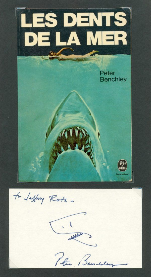 BENCHLEY PETER: (1940-2006) American Author, best known