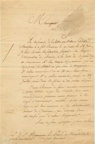 KELLERMAN FRANÇOIS CHRISTOPHE: (1735-1820) Marshal of
