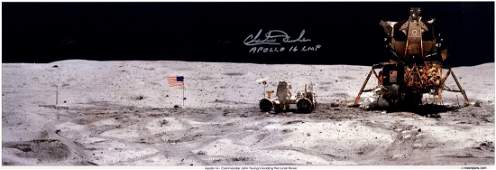 ASTRONAUTS: Signed colour 23 x 8 panoramic photograph