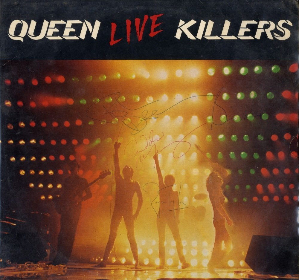 QUEEN: Signed album record sleeve for the live album