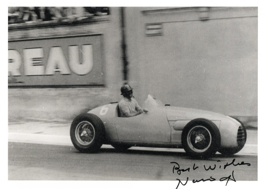 MOTOR SPORTS: Small selection of signed 7 x 5