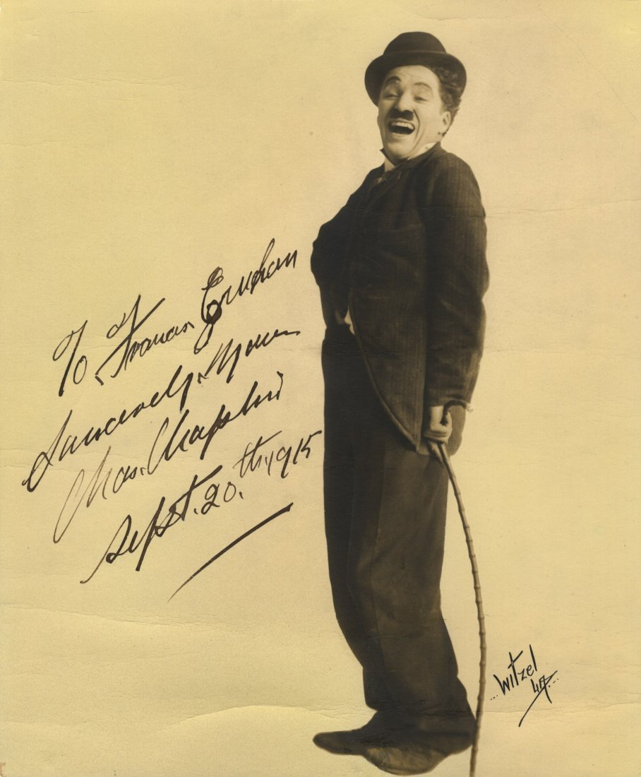 CHAPLIN CHARLES: (1889-1977) English Film Comedian,