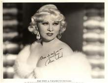 WEST MAE: (1893-1980) American Actress. An excellent