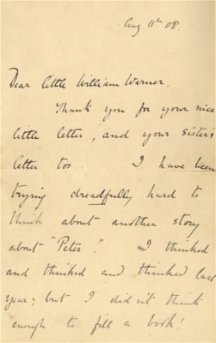 POTTER BEATRIX: (1866-1943) English Author &