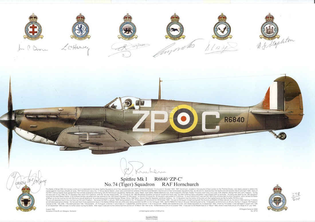 WORLD WAR II: A selection of signed colour prints and