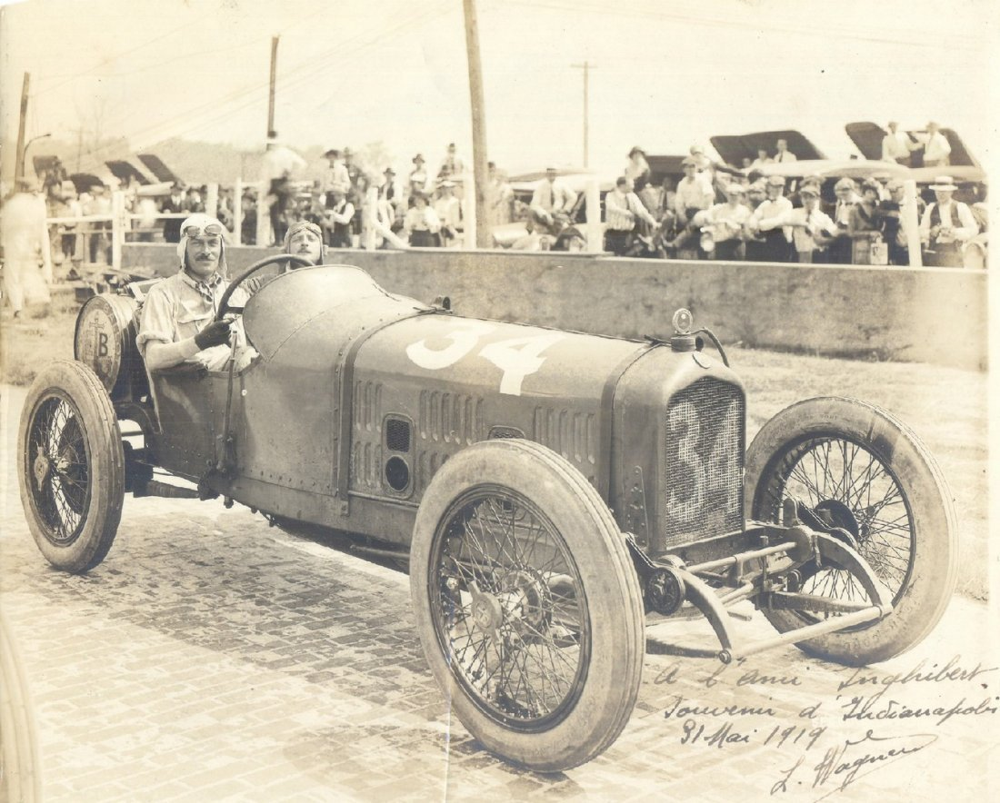 1  WAGNER LOUIS:  (1882-1960) French Racing Driver and