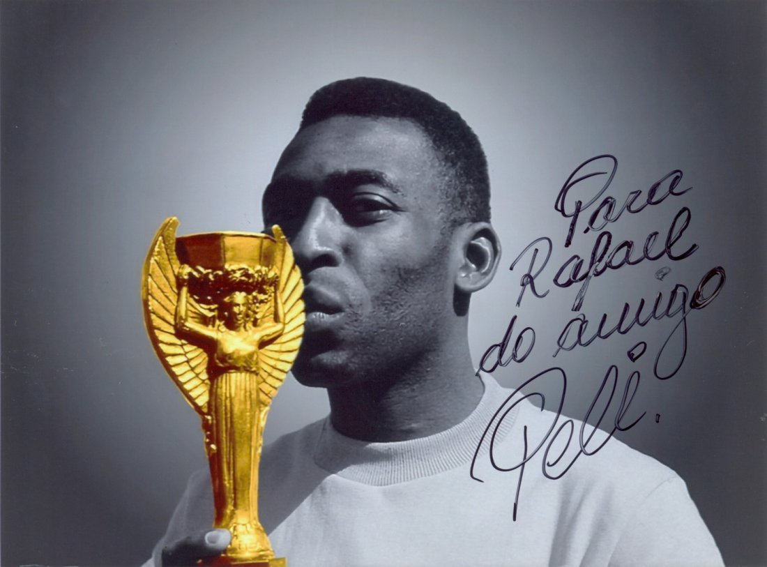 11  PELE:  (1940- ) Brazilian Footballer. Signed and