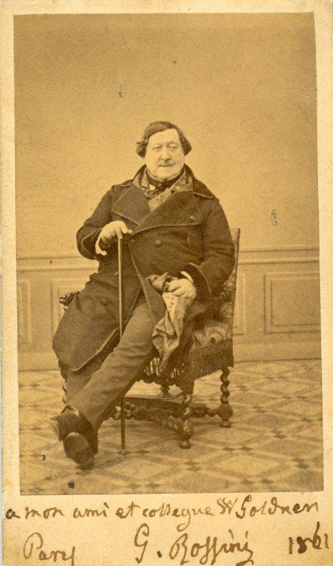 117  ROSSINI GIOACHINO:  (1792-1868) Italian Composer.