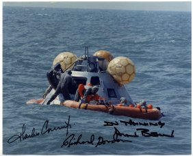 Apollo Xii: Signed Colour 10 X 8 By The Three Crew