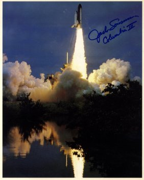 Space Shuttle Launches: Selection Of Signed Colour 8 X