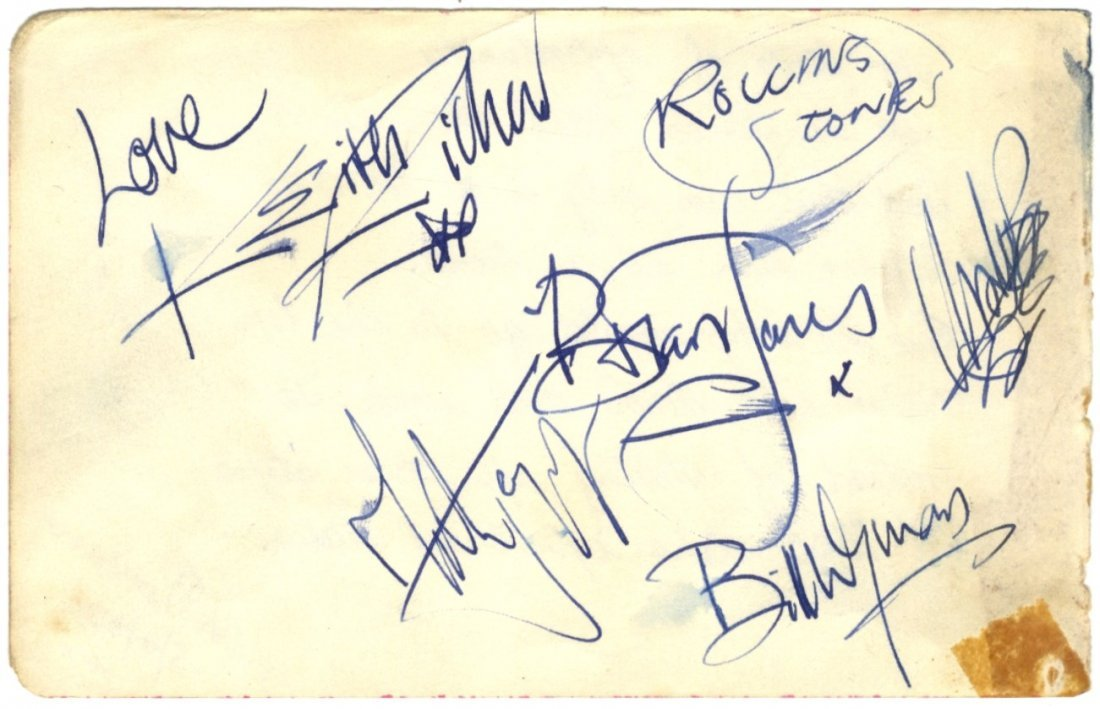 ROLLING STONES THE: A good vintage signed album page by