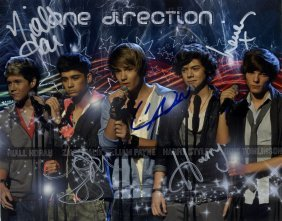 One Direction: Signed Colour 10 X 8 Photograph By All