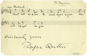 Quilter Roger: (1877-1953) English Composer. A Good