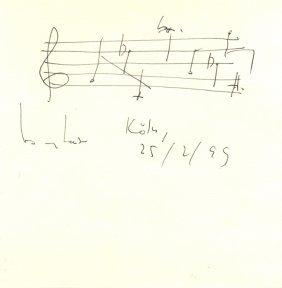 Henze Hans Werner: (1926-2012) German Composer.