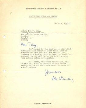 Fleming Ian: (1908-1964) British Author, Creator Of The