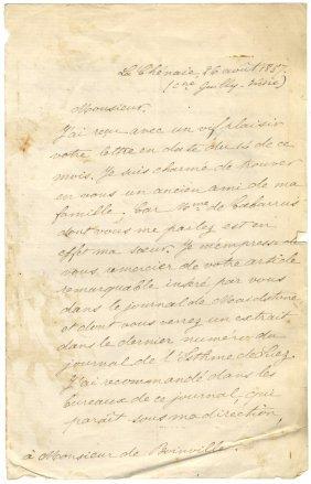 De Lesseps Ferdinand: (1805-1894) French Diplomat,