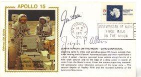 Apollo Xv: Three Individually Signed First Day Covers