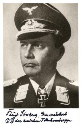 Student Kurt: (1890-1978) German Luftwaffe General Of