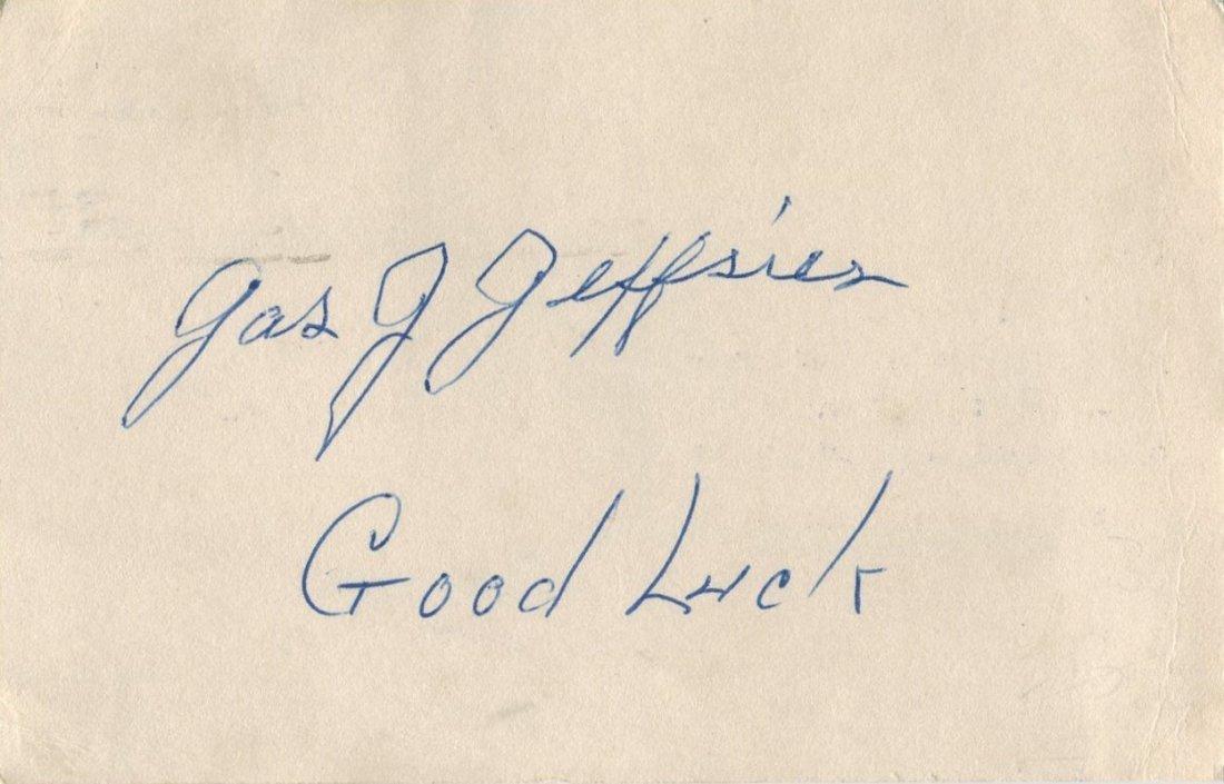 JEFFRIES JAMES J.: (1875-1953) American Boxer, World