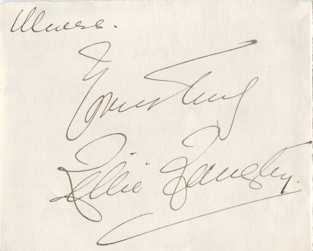 LANGTRY LILLIE: (1853-1929) British Actress, mistress
