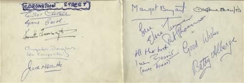 CORONATION STREET A vintage autograph album containing