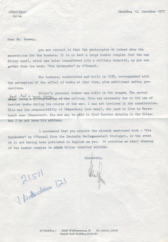 SPEER ALBERT: (1905-1981) Nazi Politician & Hitler's