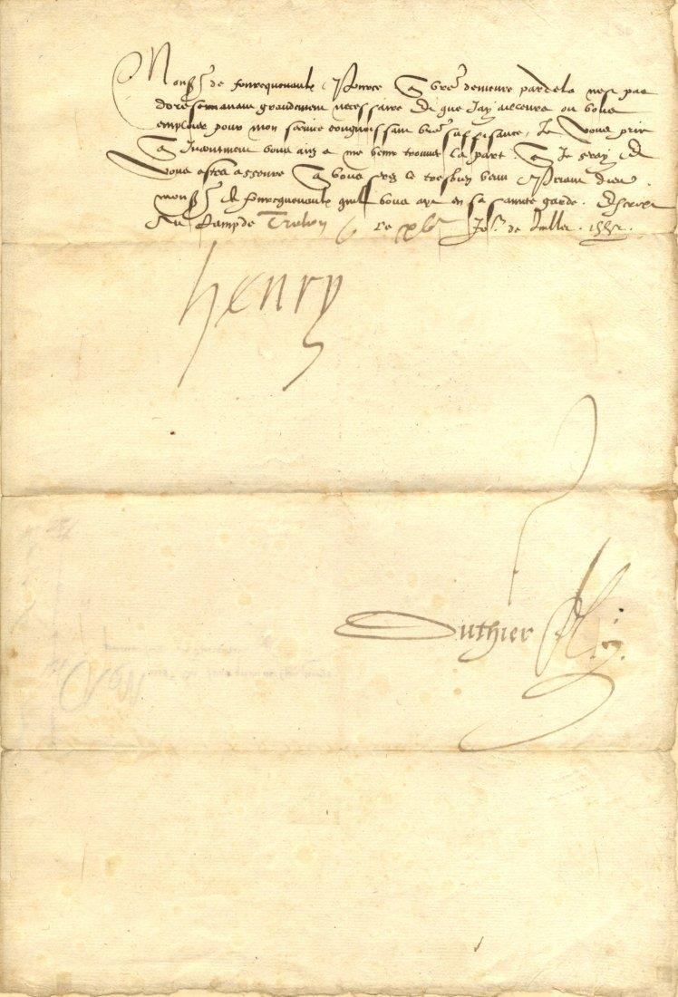 HENRY II: (1503-1555) King of Navarre 1517-55. L.S.,