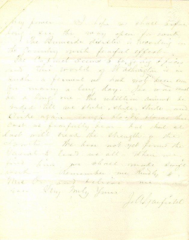 GARFIELD JAMES: (1831-1881) American President - 2