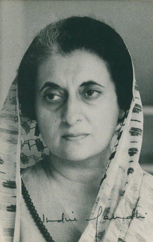 GANDHI INDIRA: (1917-1984) Indian Prime Minister