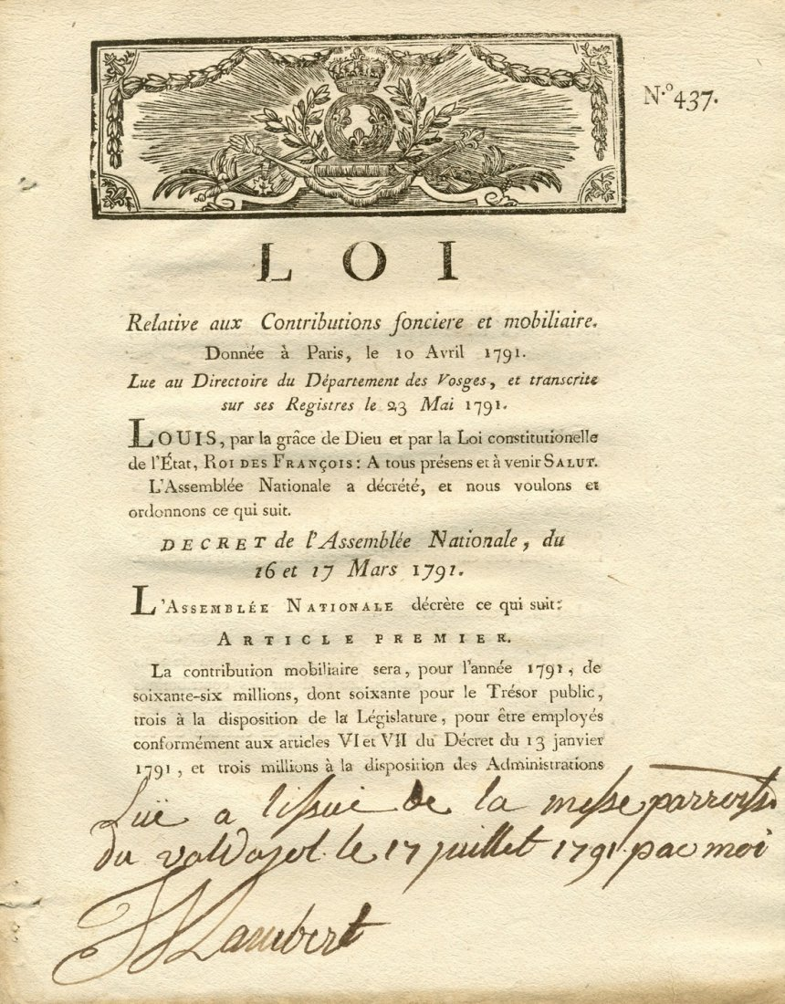 FRENCH REVOLUTION DECREES: Large selection of original
