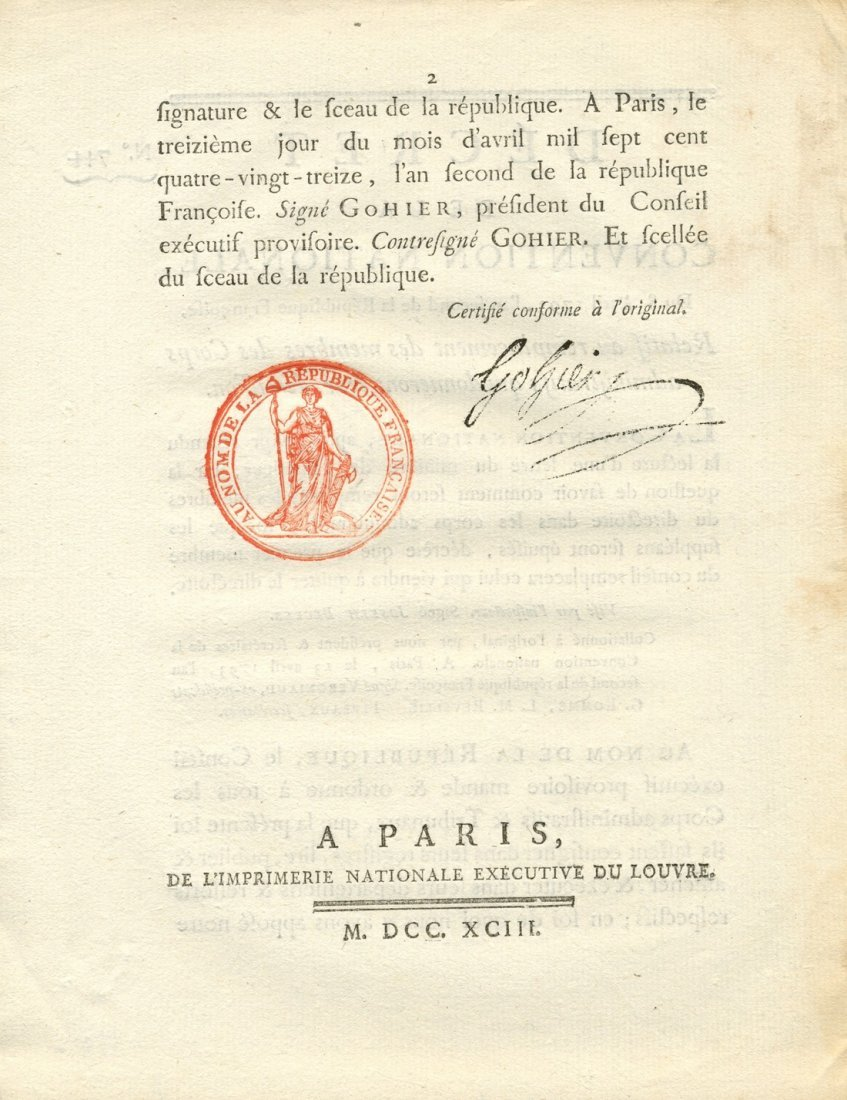 FRENCH REVOLUTION DECREES: Large selection of original - 2