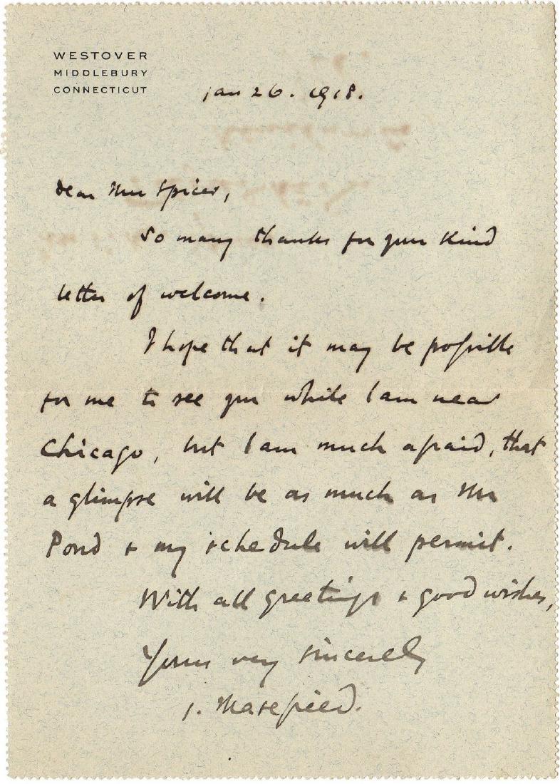 MASEFIELD JOHN: (1878-1967) British Poet & Writer, Poet