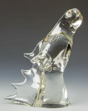 Livio  Seguso (Italian, B. 1930) Figural Glass Horse