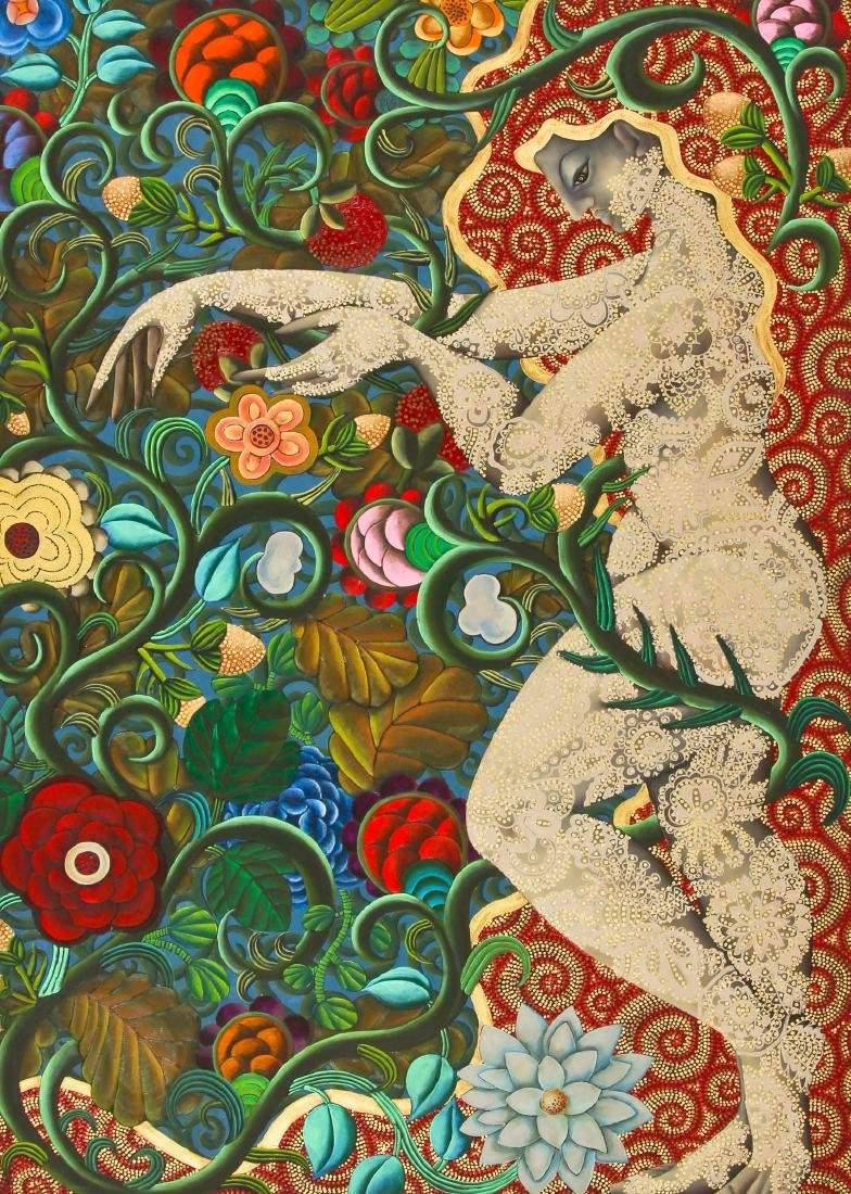 Naomi Yoneda Wesler (American, active) Fantasy Painting