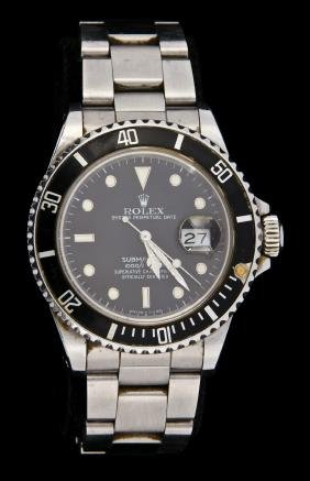 Rolex Oyster Perpetual Date Submariner SS Watch