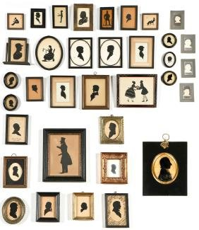 Collection of Antique Silhouettes