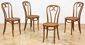 Set of 4 Thonet No. 16  Sweetheart Style Chairs