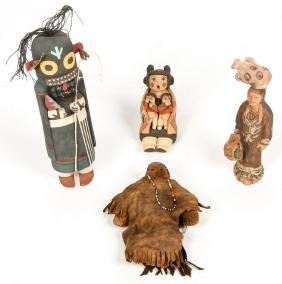 4 Native American Figures