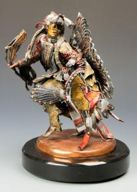 C.A. Pardell (American, 20th c.) Legends Figural Bronze