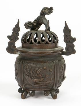Antique Japanese Bronze Koro Censer