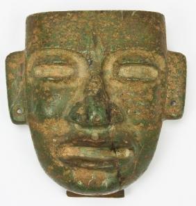 Pre Columbian Olmec Jade Mask
